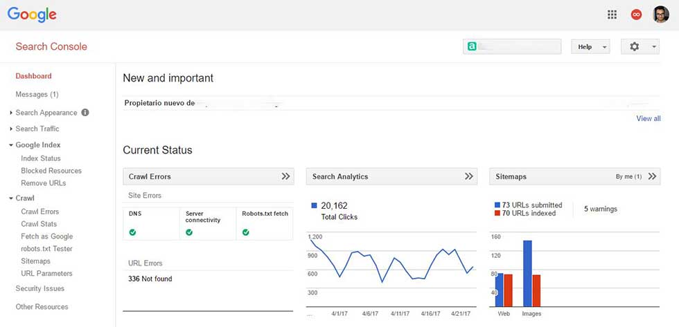 Google search console manual paso a paso