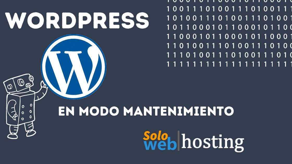 Wordpress en modo mantenimiento
