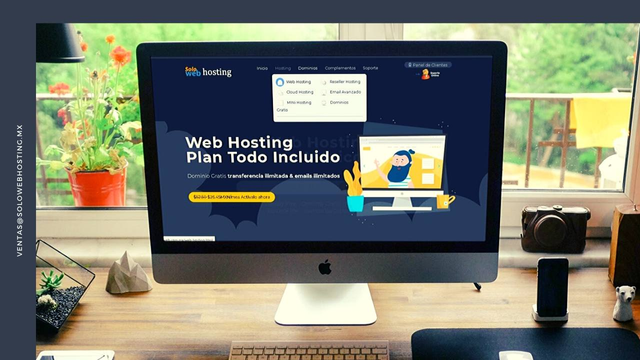 Web Hosting en Mexico con Certificado SSL y Dominio Gratis